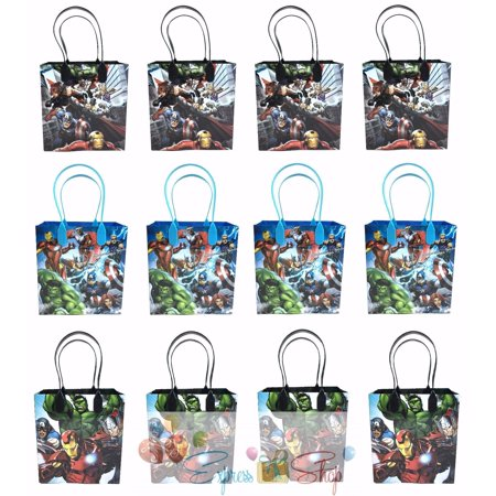 Avengers Party Ideas (Avengers 12 Authentic Licensed Party Favor Reusable Medium Goodie Gift Bags)