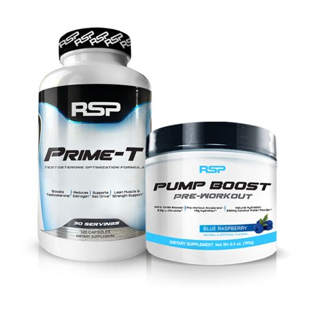 RSP Prime-T Testosterone Booster + Pump Boost Pre Workout (Your Choice of
