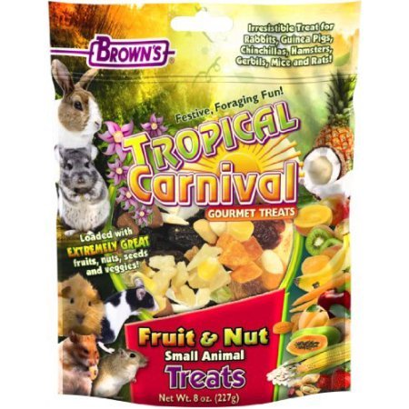 Brown's Tropical Carnival Fruit & Nut Small Animal Treats, 8 - Carnival Treats