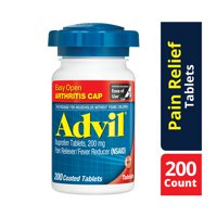 Advil Easy Open Cap (200 Count) Pain Reliever / Fever Reducer Coated Tablet, 200mg Ibuprofen, Temporary Pain Relief