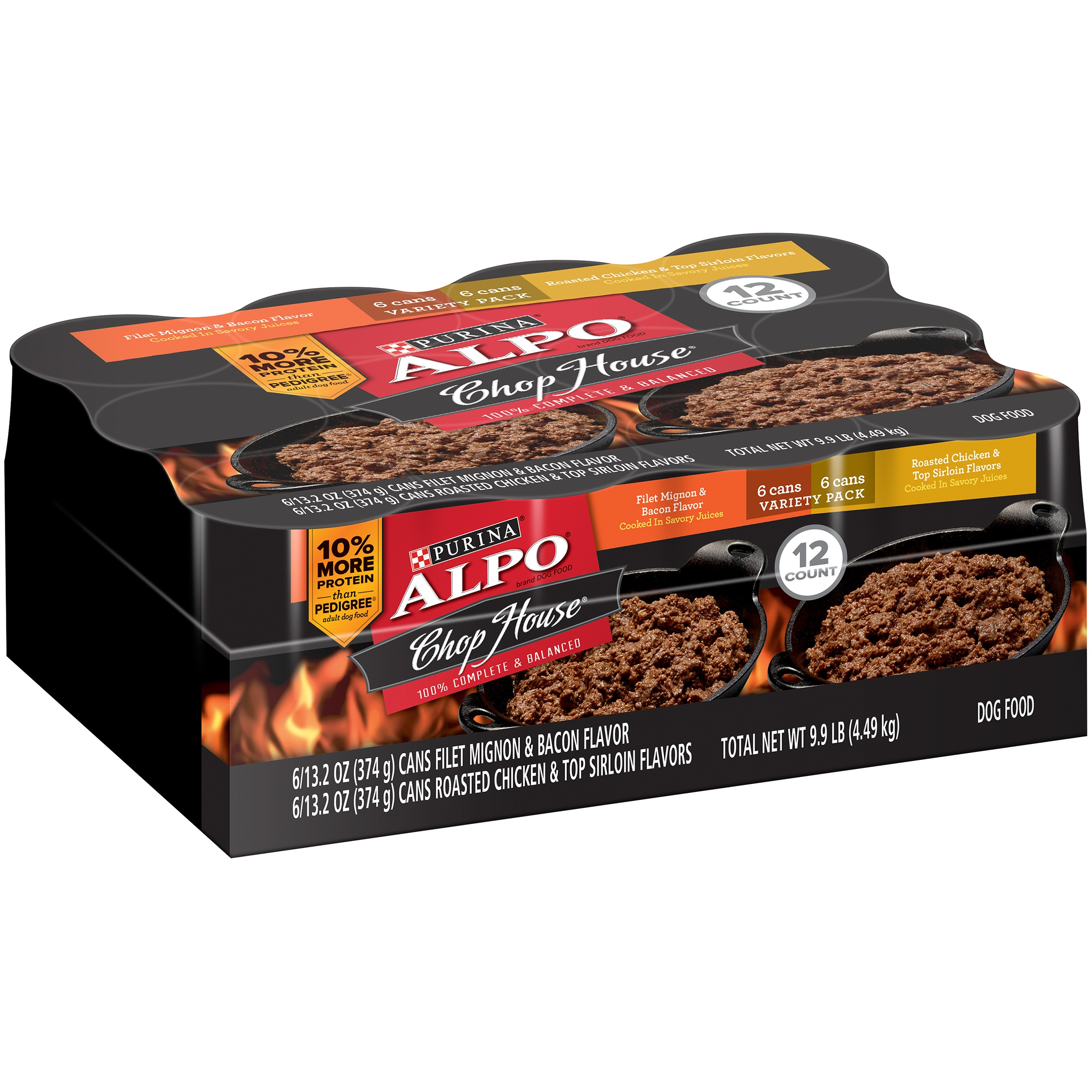 Purina ALPO Chop House Filet Mignon, Roasted Chicken & Top Sirloin Wet Dog Food Variety Pack (12) 13.2 oz. Cans by Nestle Purina Petcare Company