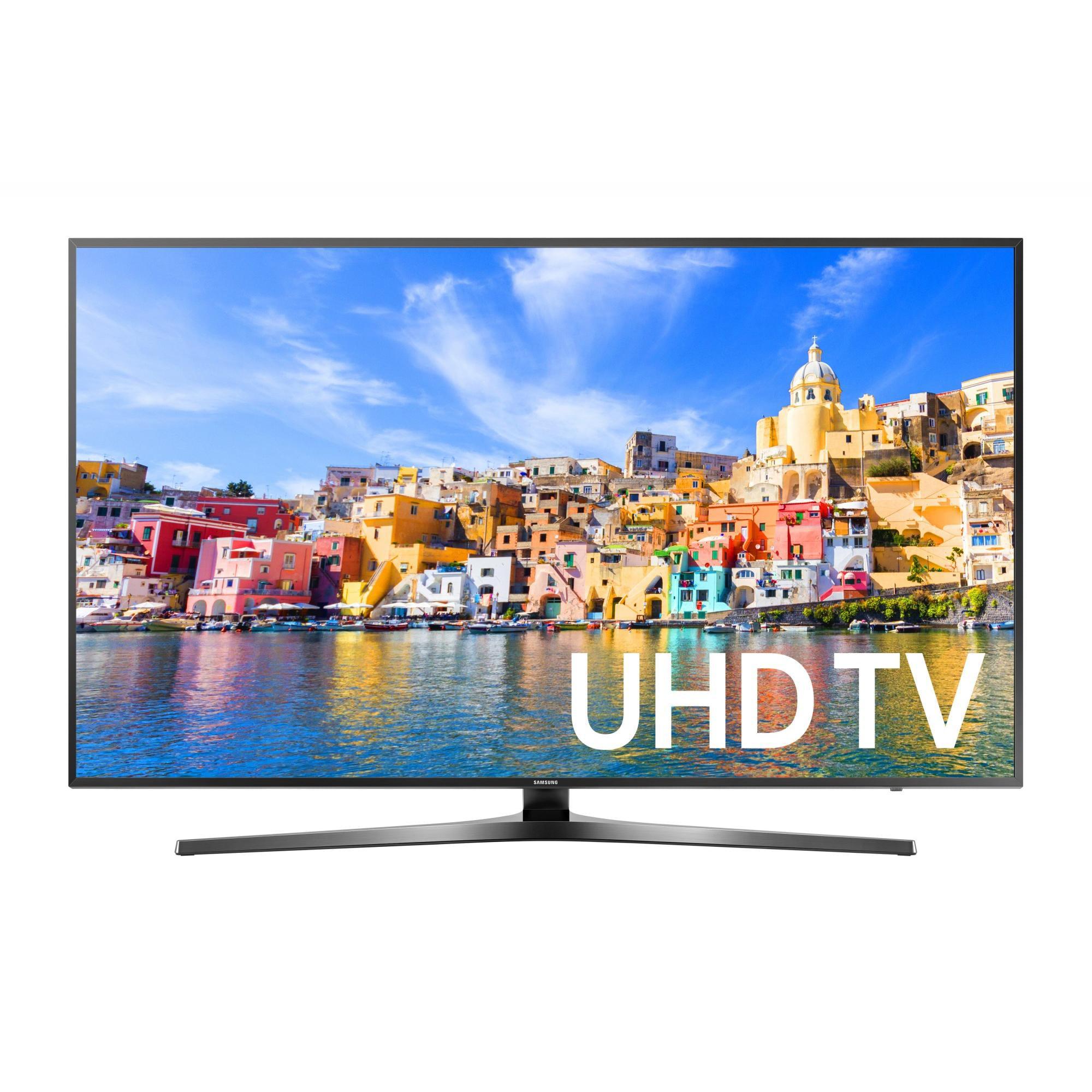 """SAMSUNG 49"""" 7000 Series - 4K Ultra HD Smart LED TV - 2160p, 120MR (Model#: UN49KU7000)"""