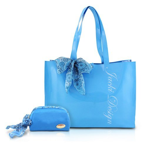Jacki Design Summer Bliss 2-Piece Tote and Cosmetic Bag Travel Set