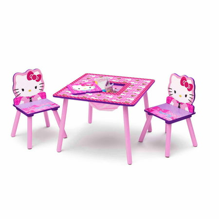 Amazing Hello Kitty Toddler Table And Chair Set With Storage Interior Design Ideas Philsoteloinfo