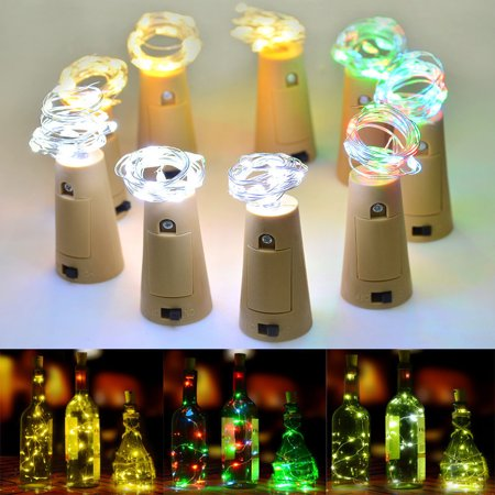 LED Beer Wine bottle light with led stopper - 2 Packs