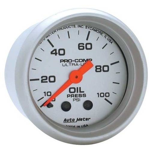 AUTO METER 4321 2IN OIL PRESS, 0-100 PSI, MECH, ULTRA-LITE