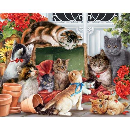 - Vermont Christmas Company Garden Cats - 1000 Piece Jigsaw Puzzle
