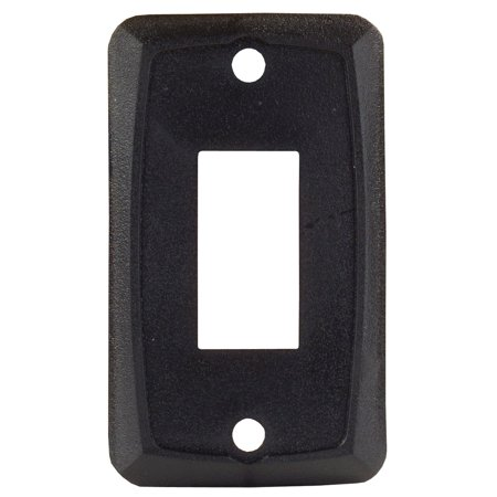 Junior Faces - JR Products 12855 Single Switch Face Plate - Black