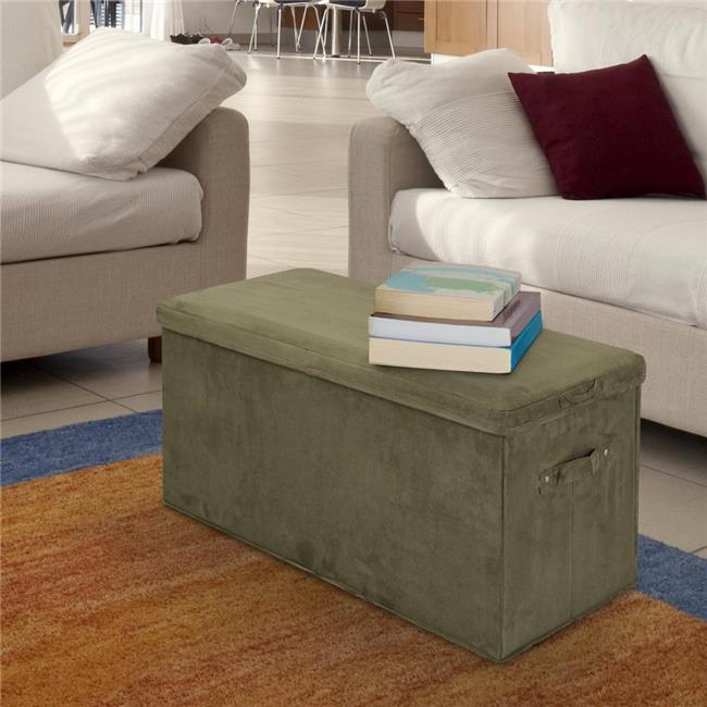 how to build a bench seat with storage for kitchen seat pad folding storage bench micro suede cover 9956
