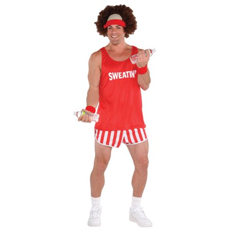 Grinch Characters Costumes (Exercise Maniac Character Kit Costume Richard Simmons Wig Shirt Shorts)