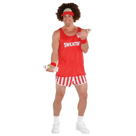 Exercise Maniac Character Kit Costume Richard Simmons Wig Shirt Shorts Headband - Richard Simmons Halloween Costumes