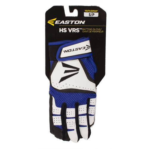 Easton HS VRS Youth Batting Glove - White/Royal - Size S