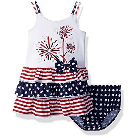 Infant Butterfly Dress (Bonnie Baby Infant Girls 4th of July Fireworks Dress 12)