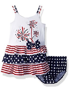 06725d8f60c Product Image Bonnie Baby Infant Girls 4th of July Fireworks Dress 12 months