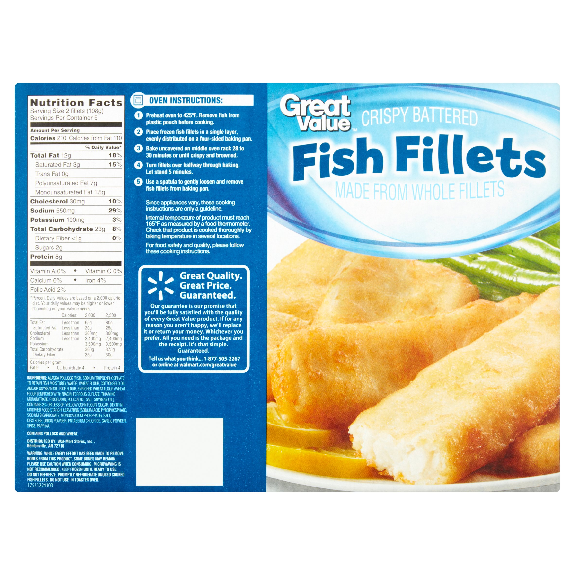 Walmart frozen fish fillets for Frozen fish sticks