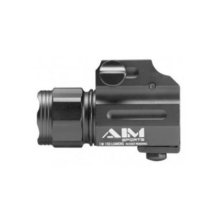 AIM Sports Inc Sub-Compact Weapon Light with QR Mount, 220 Lumens,