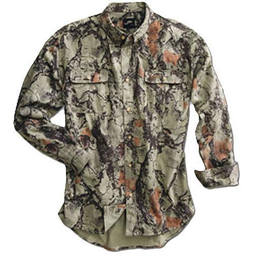 Natural Gear 101-NATURAL-LG Men's Bush Shirt Natural Camo Large by Natural Gear