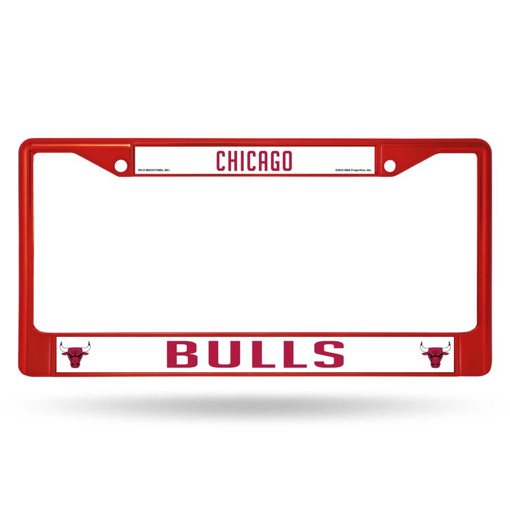 Chicago Bulls Metal License Plate Frame - Red
