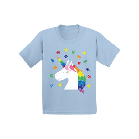 Awkward Styles Kids Unicorn Autism Shirt for Toddler Autism Awareness Shirt Puzzle Autism Gifts for Kids