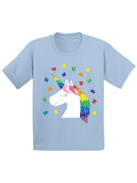 Awkward Styles Kids Unicorn Autism Shirt for Toddler Autism Awareness Shirt Puzzle Autism Gifts for Kids Autistic Kids Gift Ideas Autism Awareness Shirts Kids Autism Gifts Awareness Gifts