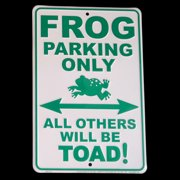 Frog Parking Only Tin Sign All Others Toad Funny Wall Art Froggy Metal Plaque