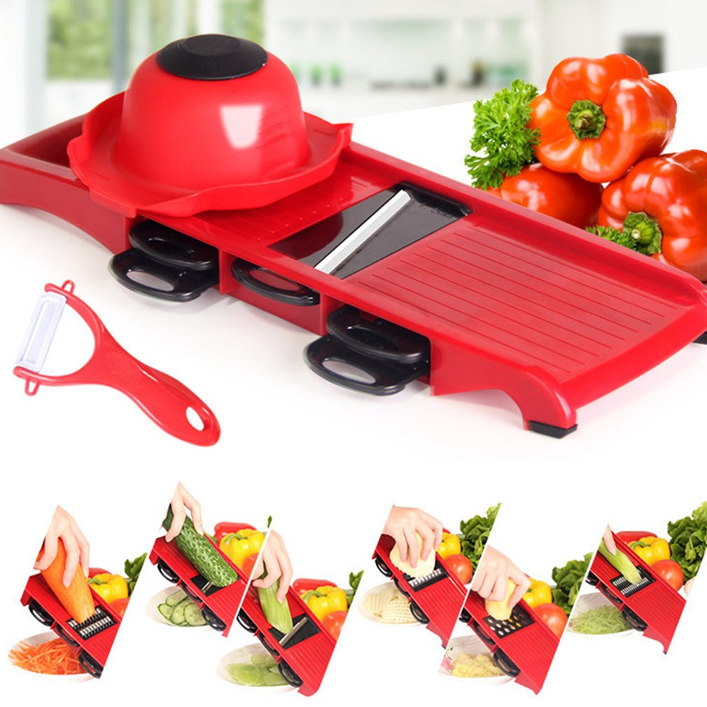 Professional Mandolin Slicer Julienne Cutter Chopper Fruit Vegetable Peelers