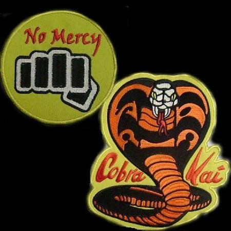 Cobra Kai No Mercy Patch Set from Karate Kid