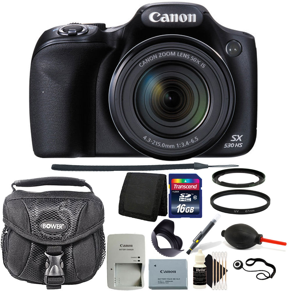 Canon PowerShot SX530 HS 16MP WiFi Digital Camera with 16...