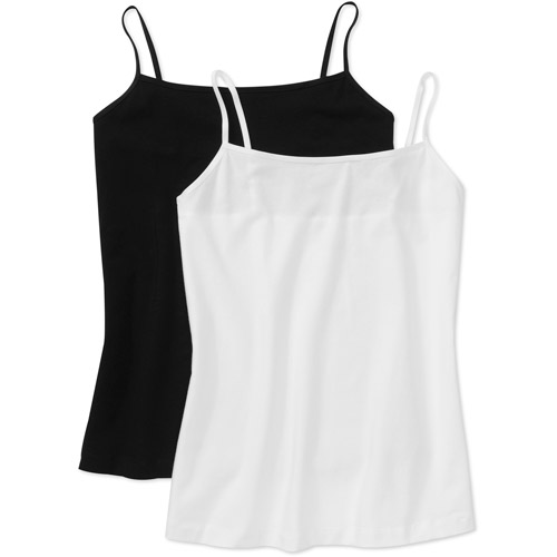 George Women's Plus-Size Basic Cami, 2-Pack