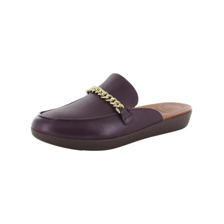 Fitflop Womens Serene Chain Slip On Mule Shoes, Deep Plum, US 8.5