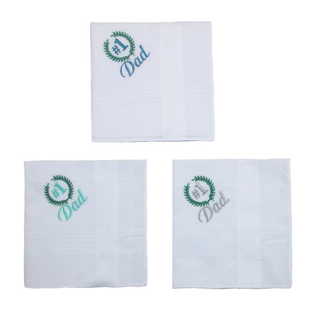 Parquet Men's Number 1 Dad Embroidered Cotton Handkerchief Set (Pack of 3) - image 2 of 4