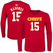 Patrick Mahomes Kansas City Chiefs Youth Mainliner Name & Number Long Sleeve T-Shirt - Red