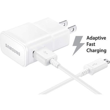 Adaptive Fast Charger Compatible with Samsung Galaxy Mini 2 [Wall Charger + 5 Feet USB Cable] WHITE - New