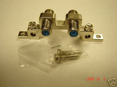 lot 2 NEW DUAL GROUND BLOCKS 3GHZ UL SATELLITE//CABLE TWO GROUNDING SCREWS 3GHZ