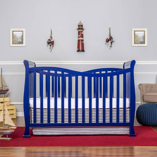 Dream On Me Violet 7-in-1 Convertible Life style Crib, Royal Blue
