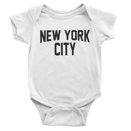 NYC FACTORY New York City Baby Bodysuit Screen Printed Lennon Retro Style (6m)](Fat Baby Nyc Halloween)