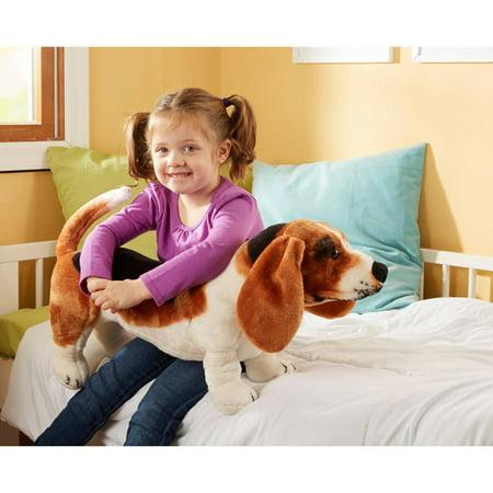 Melissa & Doug Giant Basset Hound - Lifelike Stuffed Animal Dog