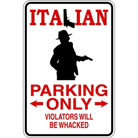 Signs Die Cut Wall Border - Italian - Parking Signs - Picture Art - Peel & Stick Vinyl Wall Decal Sticker Size : 9 Inches X 18 Inches