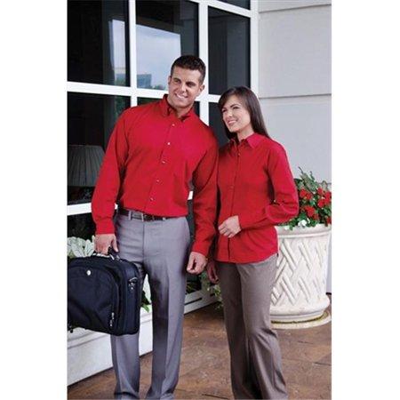 628 Ladies Long Sleeve Non Stick Surface Soil Release Woven Shirt, Khaki, Large - image 1 of 1