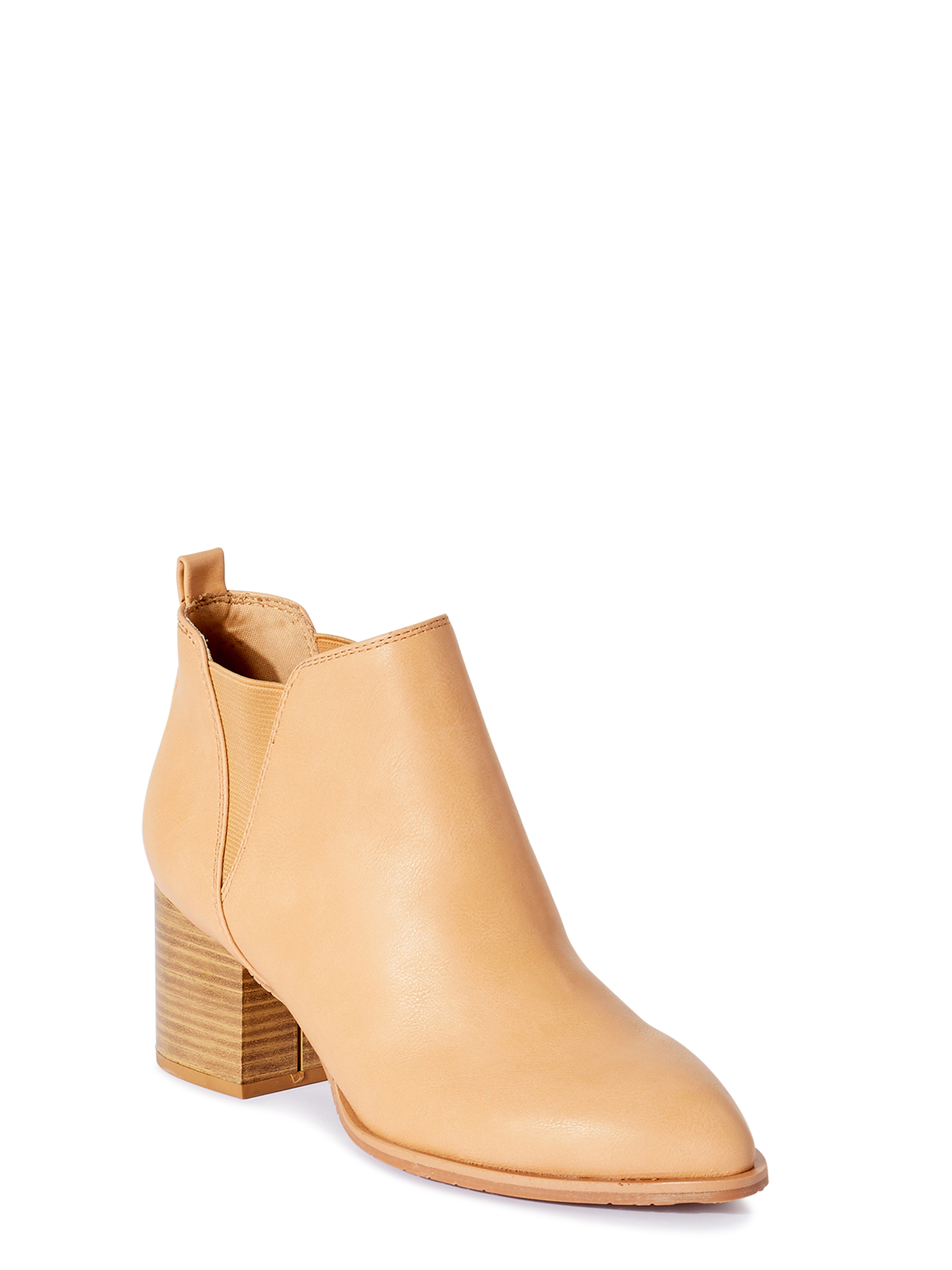 Women Retro Ankle Boots Cut-Out Side Zipper Low Chunky Stacked Block Heels Short Booties Roman Casual Ruched Shoes