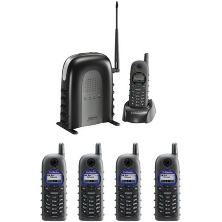 Engenius DuraFon1XPIDW 900 MHz Long-range Cordless Phone System with Base Handset and Four 2-way Radio... by
