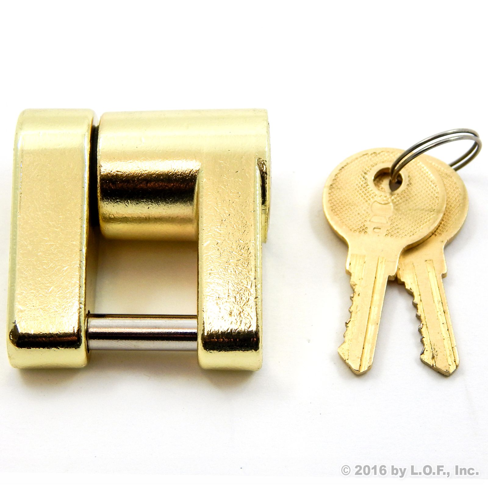 Trailer Coupler Receiver Tow Hitch Lock Brass Pin Latch with 2 keys