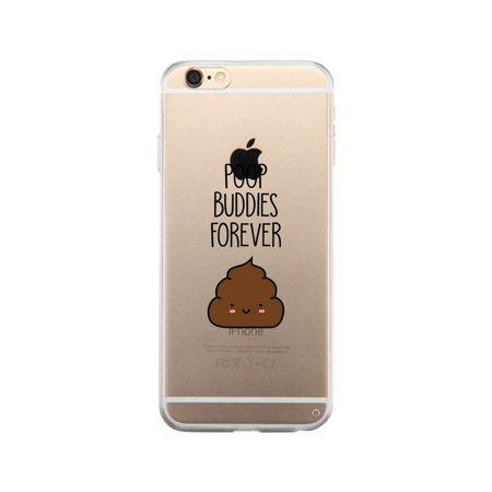 Poop Buddies-Right Apple iPhone 6 Clear Case Gifts For Best