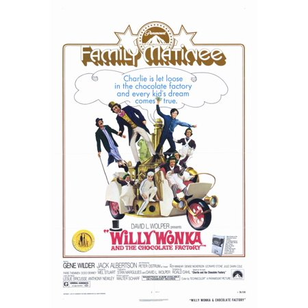 Willy Wonka And The Chocolate Factory Poster Movie C  27X40