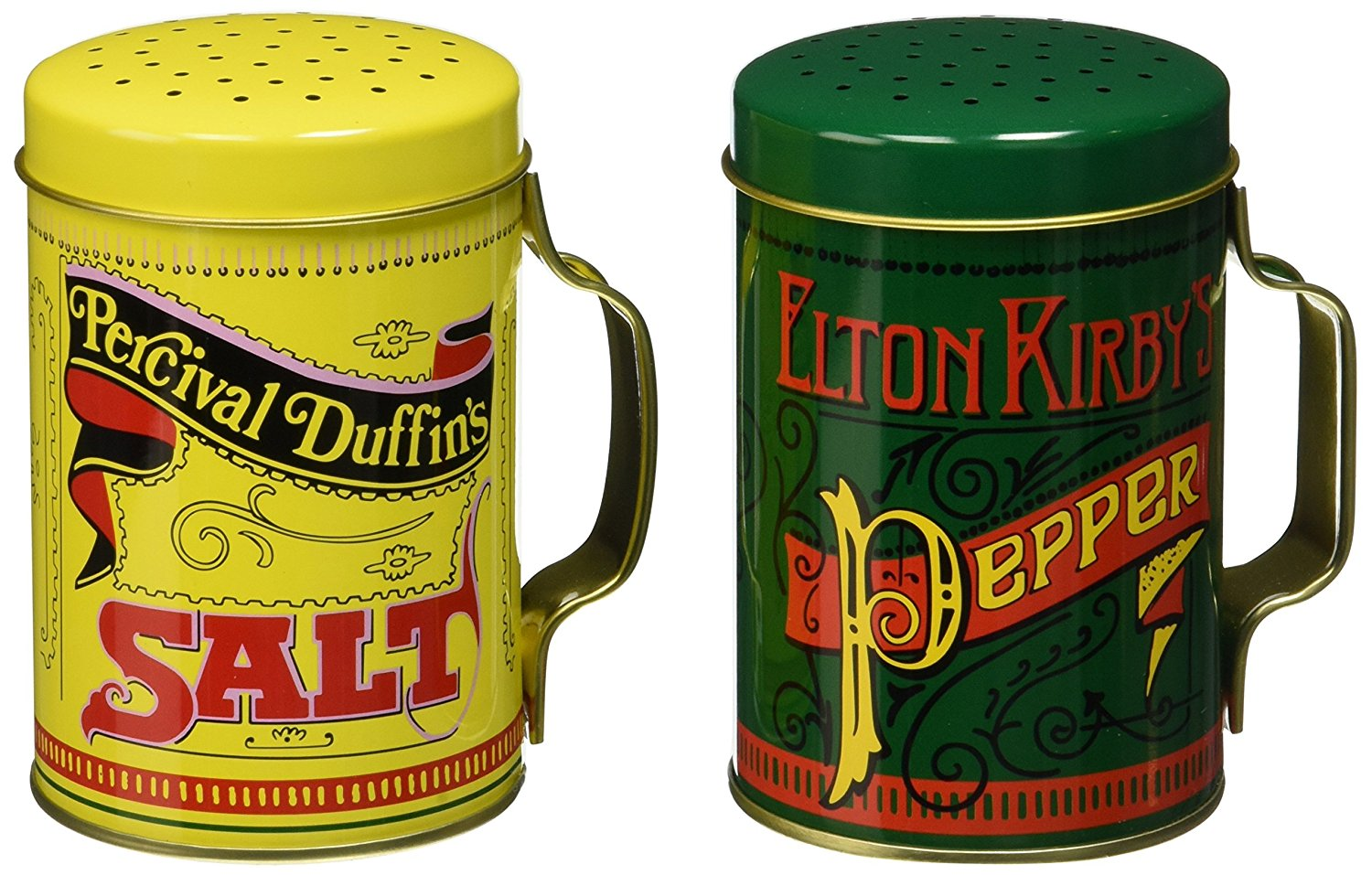 Nostalgic Salt and Pepper Shakers, With Handles, 2 Piece Set By Norpro by