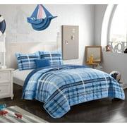 Better Homes & Gardens Kids Navy Blues Plaid Quilt Set