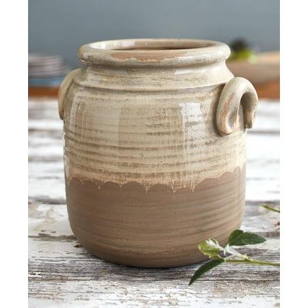 Countryside Stoneware Short Vase -