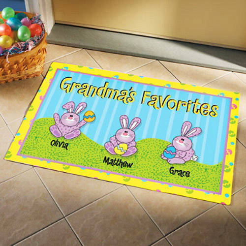 Personalized Easter Bunnies Doormat