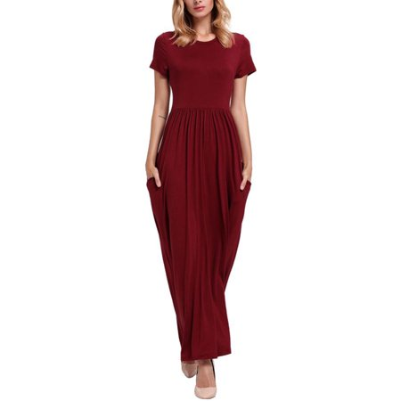 Women Long Maxi Dresses Casual Plus Size Fashion Shirt Dresses Online Baggy  Sundress Short Sleeve Loose