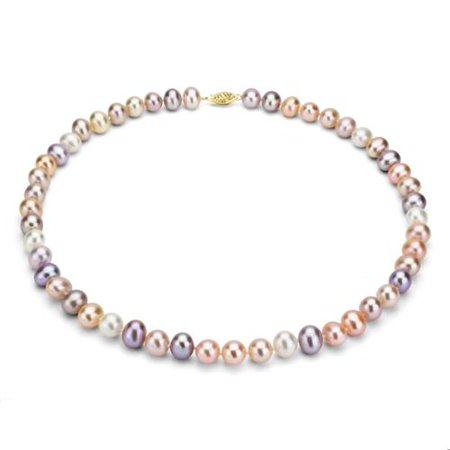 Davonna 14k 8 9mm Multi Pink Freshwater Cultured Pearl S